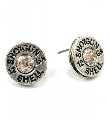 Western Peak Hammered Shotgun Earrings