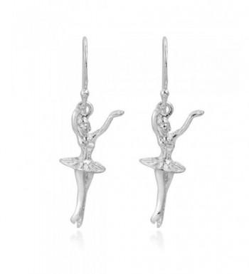 Graceful Ballerina Dancer Sterling Earrings