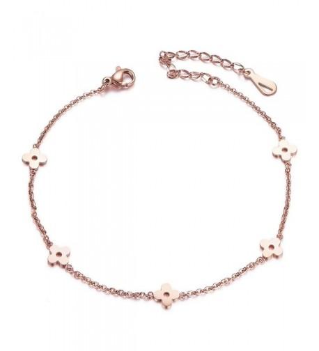 SHEGRACE Flower Chain Anklet Bracelet
