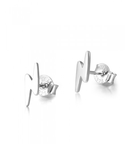 Sterling Lightning Infinity Earrings Bolt silver