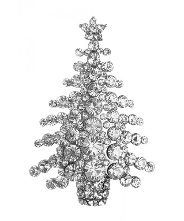 Bejeweled Christmas Rhinestone Brooch 468