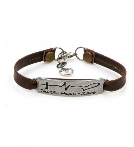 Bracelet Electrocardiogram Engraved Encourage Jewellery