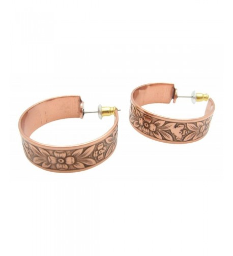 Copper Hoop Earrings CE331CO diameter
