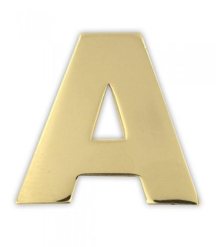 PinMarts Plated Alphabet Letter Lapel