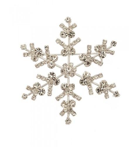 Silver Sparkle Snowflake Pin Style