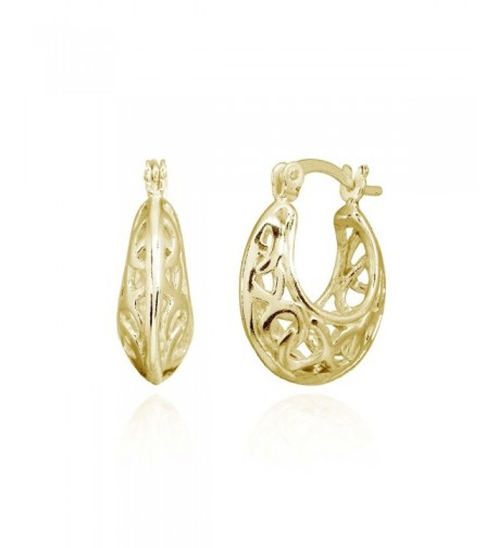 Sterling Polished Filigree Intertwined Infinity