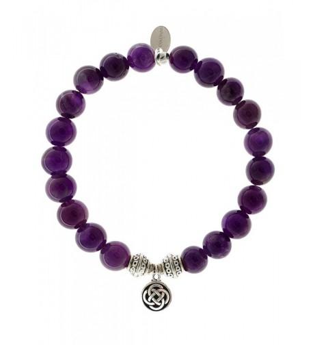 EvaDane Precious Amethyst Gemstone Bracelet
