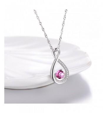 1bf242f20 Infinity Necklace Girlfriend Anniversary Birthday Pink Tourmaline ...