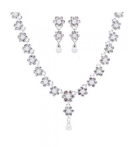 ACCESSORIESFOREVER Wedding Fashion Jewelry Rhinestone