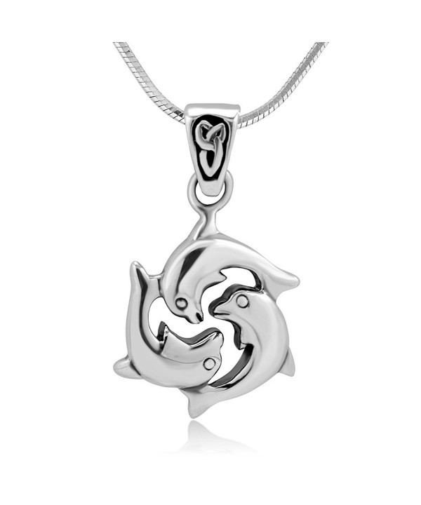 Sterling Dolphin Harmony Friendship Necklace