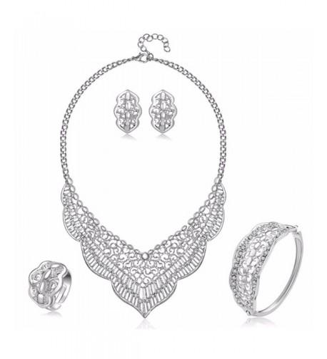 MOOCHI Plated Crystal Embedded Jewelry