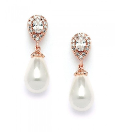 Mariell Pear Shaped Zirconia Wedding Earrings