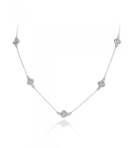 Sterling Silver Polished Station Necklace