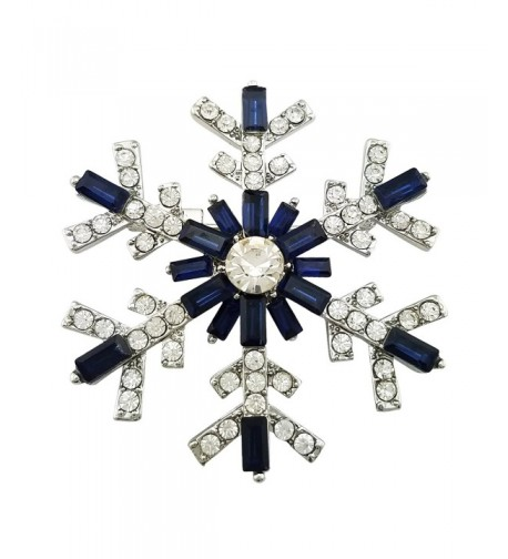 SELOVO Womens Sparkly Snowflake Crystal