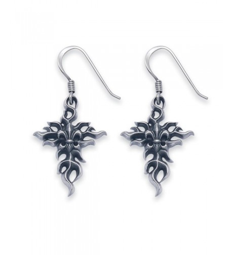 Sterling Silver Flaming French Earrings
