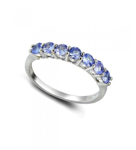 Sterling Silver Tanzanite Half Eternity