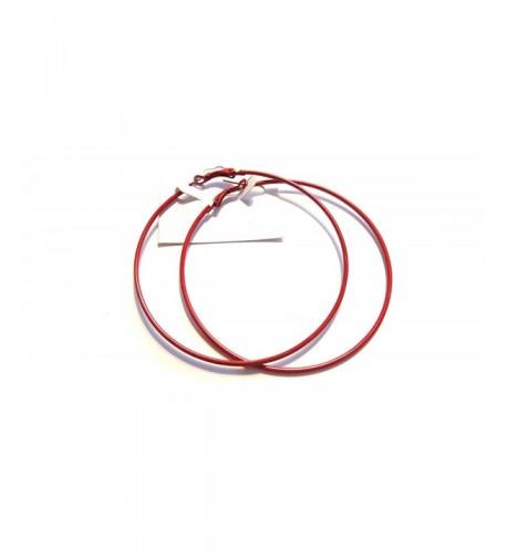 Large Color Hoop Earrings Inch
