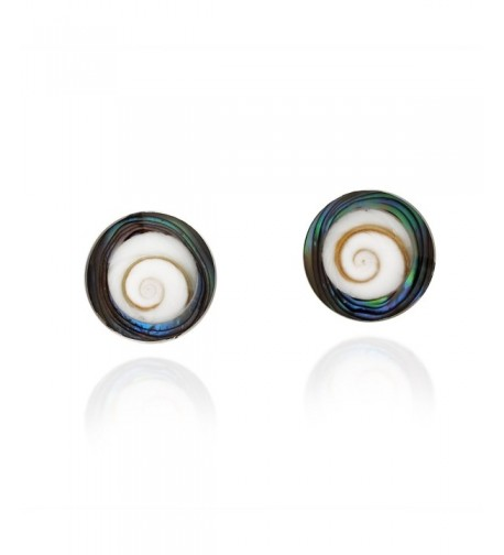 Modish Rainbow Abalone Sterling Earrings