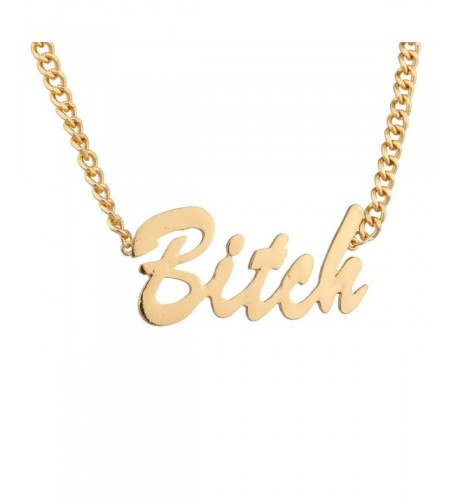 Lux Accessories Gangster Pendant Necklace