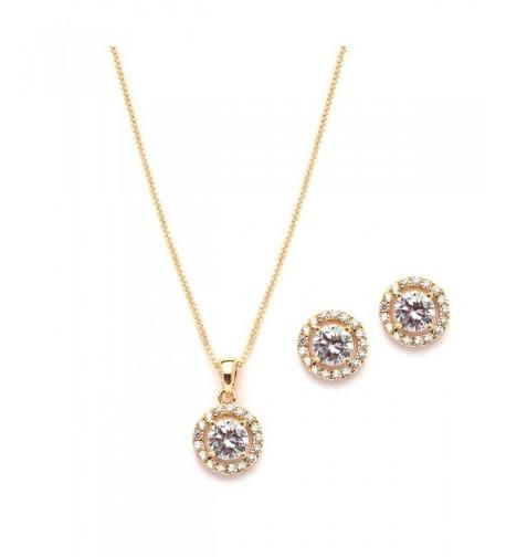 Mariell Dainty Zirconia Necklace Earrings