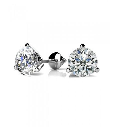 Zirconia Sterling Silver Martini Earrings