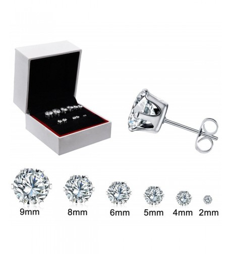 6Pairs Stainless Steel Earrings Valentines