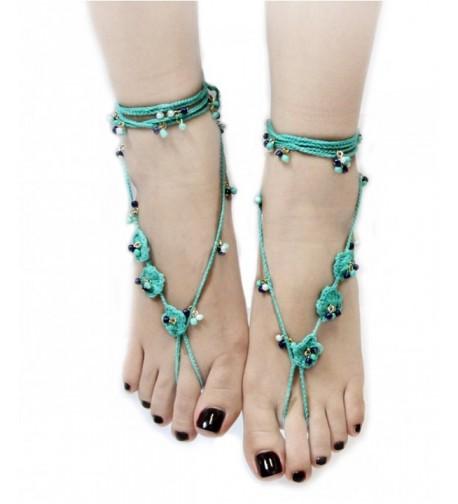 Handmade Bohemian Crochet Barefoot Sandals
