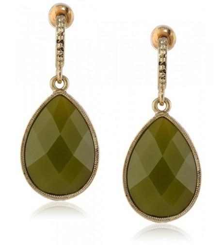 1928 Jewelry Domenica Gold Tone Earrings