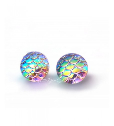 Changing Iridescent Earrings Stainless Titanium