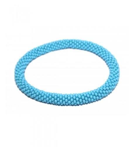 Crochet Glass Bracelet Nepal SB453