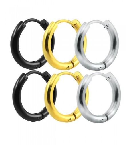 TENGZHEN Stainless Earrings Piercings Hypoallergenic