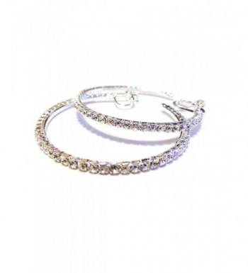 Clip Earrings Silver Crystal Pierced
