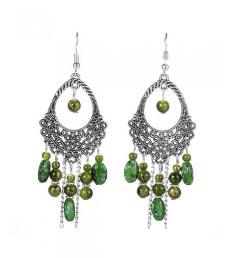 Womens Vintage Ethnic Tassel Earrings