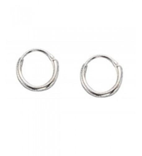 Sterling Silver Diameter Endless Earrings