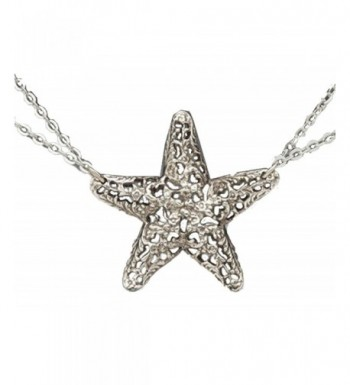 Silver Spoon Double Necklace Starfish