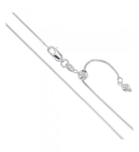 Sterling Silver Adjustable Genuine Necklace