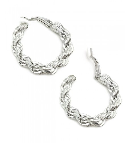 Sparkly Bride Earrings Braided Rhodium