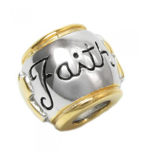 Sterling Silver Round Faith European style