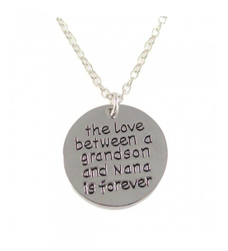 Grandson Keepsake Pendant Necklace Between