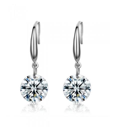 SBLING Platinum Plated Sterling Earrings Swarovski