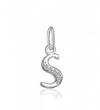 Sterling Zirconia Alphabet Dangling Letter S