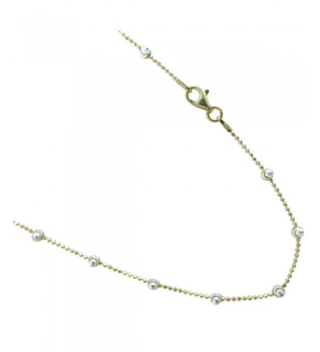 Sterling Two tone Colored Vermeil Necklace