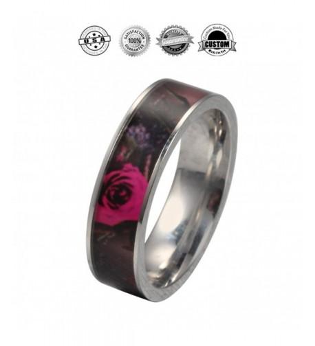 Womens Wild Rose Camo Ring