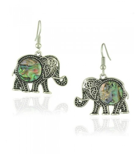 Womens Trendy Elephant Dangle Earrings