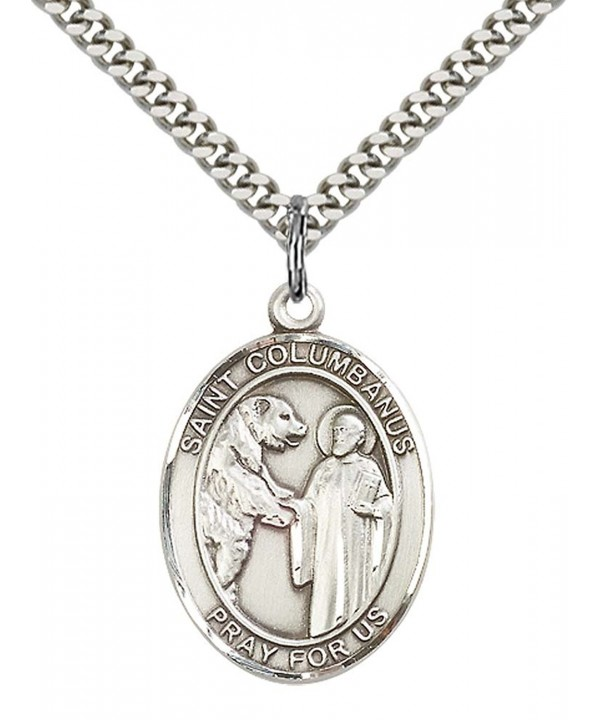 Sterling Columbanus Pendant Stainless Motorcyclists