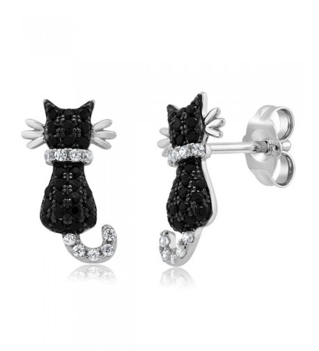 Adorable Sterling Silver Zirconia Earrings
