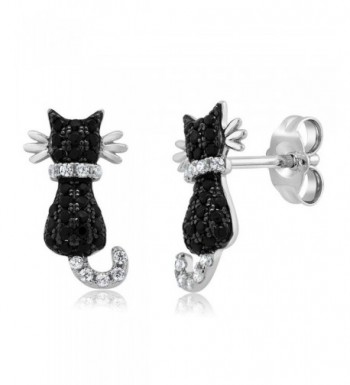 Adorable Sterling Silver Zirconia Earrings