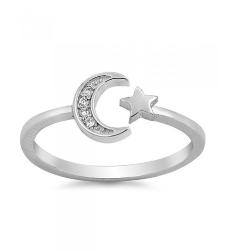 White Moon Sterling Silver RNG15534 7