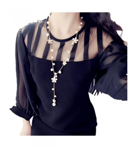 Pendant Necklaces JUNKE Womens Sweater