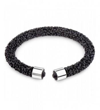 Silver Post Swarovski Crystals Bracelet